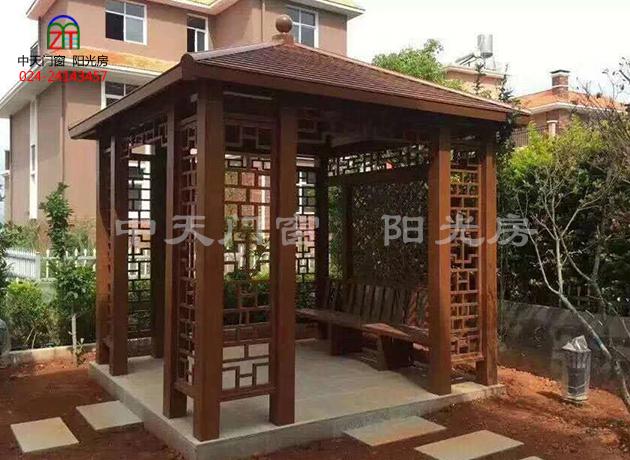 铝合金木纹凉亭