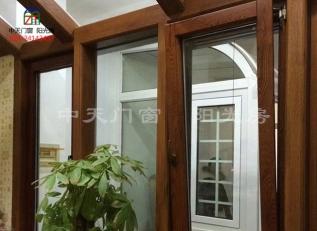 中式铝包木门窗